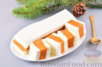 Фото к рецепту: Творожно-молочное желе с хурмой