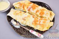 Фото к рецепту: Конвертик из лаваша с банановой начинкой