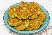 Фото к рецепту: Рубленые куриные котлетки с кукурузой и сыром