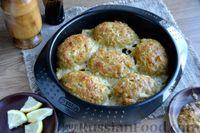 Фото к рецепту: Рыбные котлеты, запечённые в духовке