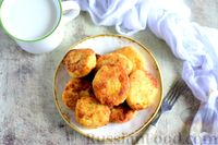 Фото к рецепту: Сырники с тыквой, манкой и курагой