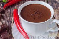 Фото к рецепту: Горячий шоколад с кофе и с перцем чили