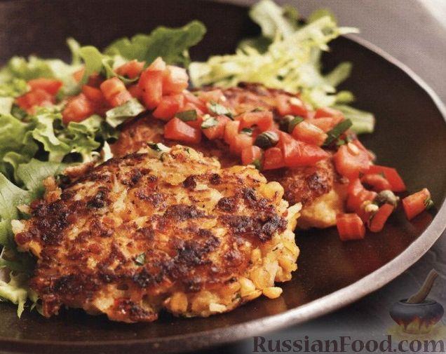 Рецепт Вегетарианские котлеты с овощной сальсой