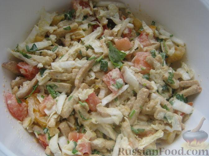 как приготовить салат с сухарями