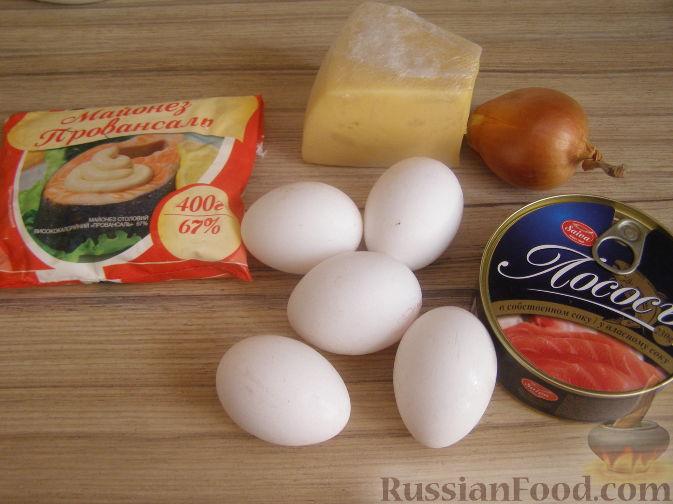 Салат мимоза с лососем консервированным рецепты