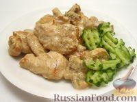 Фото приготовления рецепта: Грудка курицы со сливками и грибами - шаг №14