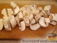 Фото приготовления рецепта: Грудка курицы со сливками и грибами - шаг №4