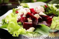 Фото к рецепту: Салат с черемшой, свеклой и фетой