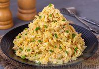 Фото к рецепту: Тушёная капуста с яйцами