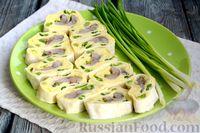 Фото к рецепту: Рулетики из лаваша с картофельным пюре и сельдью