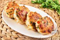 Фото к рецепту: Рубленые куриные котлеты с рисом и болгарским перцем
