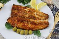 Фото к рецепту: Запечённая скумбрия с чесноком и паприкой