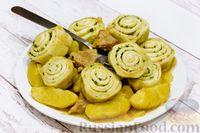 Фото к рецепту: Жаркое из свинины с картофелем и нудлями