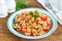 Фото к рецепту: Рис с овощами и консервированными грибами