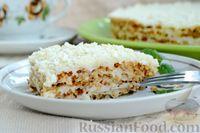 Фото к рецепту: Торт из песочной крошки с заварным сметанным кремом (без выпечки)