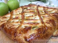 Рецепт Ватрушка с яблоком и вареньем