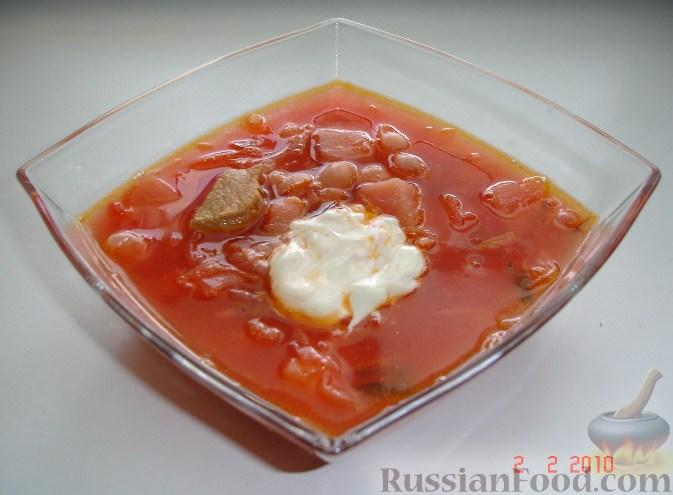 Рецепт Борщ с фасолью и квашеной капустой