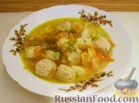 Фото к рецепту: Суп с фрикадельками из рыбных консервов