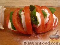 """Фото приготовления рецепта: Салат-закуска """"Капрезе"""" - шаг №5"""