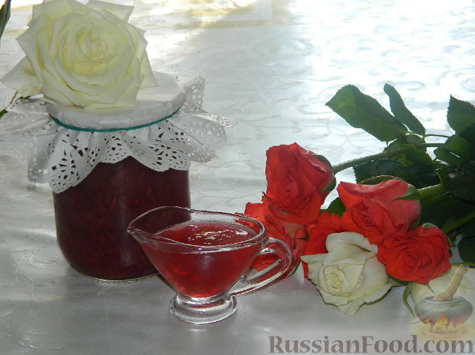 Рецепт Розовое варенье