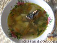 Фото к рецепту: Суп из консервированной рыбы с горошком