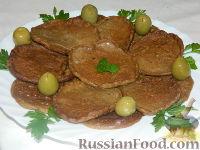 Оладья из печени с брусничным соусом - рецепт пошаговый с фото