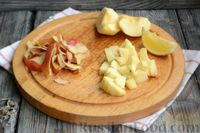 Фото приготовления рецепта: Фруктовый салат с заправкой из авокадо и йогурта - шаг №4