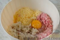 Фото приготовления рецепта: Мясные тефтели с сыром, в томатно-сметанном соусе с оливками - шаг №9