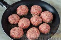 Фото приготовления рецепта: Мясные тефтели с сыром, в томатно-сметанном соусе с оливками - шаг №13