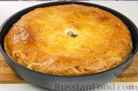 Фото приготовления рецепта: Дрожжевой пирог с мясом и картошкой - шаг №16