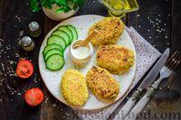 Фото к рецепту: Котлеты из консервированной рыбы и овсяных хлопьев