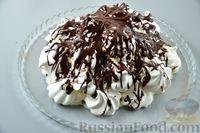 """Фото приготовления рецепта: Торт """"Графские развалины"""" из безе и масляного крема - шаг №16"""