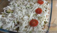 """Фото приготовления рецепта: """"Лазанья"""" из кабачков и мясного фарша, с сыром и зеленью - шаг №13"""