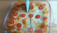 """Фото приготовления рецепта: """"Лазанья"""" из кабачков и мясного фарша, с сыром и зеленью - шаг №14"""