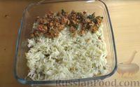 """Фото приготовления рецепта: """"Лазанья"""" из кабачков и мясного фарша, с сыром и зеленью - шаг №11"""
