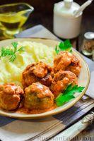 Фото приготовления рецепта: Тефтели в сливочно-томатном соусе - шаг №14