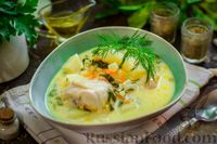 Фото приготовления рецепта: Куриный суп со шпинатом, плавленым сыром и сливками - шаг №15