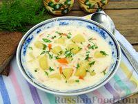 Фото приготовления рецепта: Картофельный суп с плавленым сыром - шаг №20
