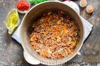 Фото приготовления рецепта: Суп с фаршем, капустой и рисом - шаг №7