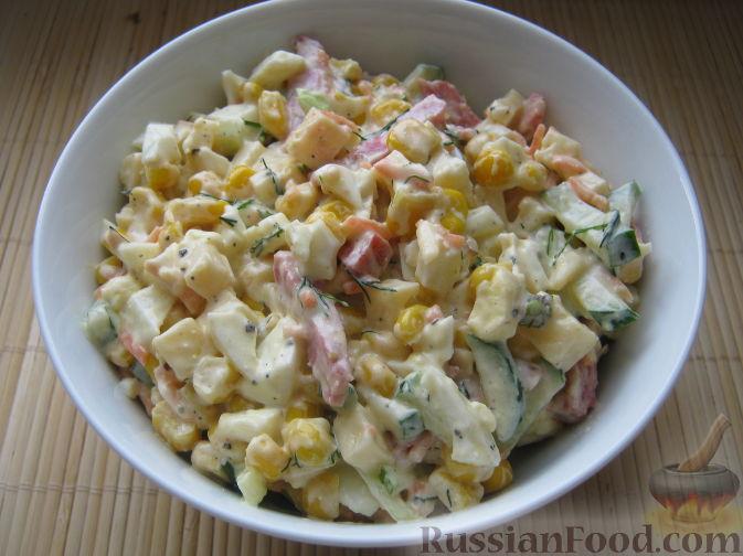 Салат с кукурузой и яйцами рецепт