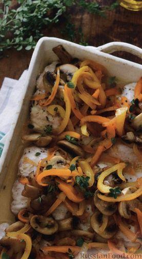 👌 Жареная рыба с овощами и грибами, рецепты с фото | 505x277
