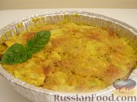 Фото к рецепту: Запеканка из картофеля и кабачков (в микроволновке)