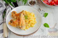 Фото приготовления рецепта: Куриные крылышки, запечённые с булгуром - шаг №10