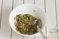 Фото приготовления рецепта: Закуска из кабачков с ореховой заправкой - шаг №4