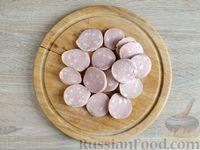 Фото приготовления рецепта: Омлет с кабачком и колбасой (в духовке) - шаг №6