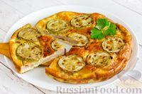 Фото приготовления рецепта: Омлет с кабачком и колбасой (в духовке) - шаг №14