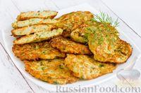 Фото к рецепту: Оладьи из кабачка, моркови, сельдерея и яблока