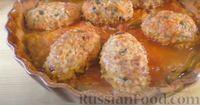 Фото приготовления рецепта: Капустная запеканка с котлетами из мясного фарша и риса, или Ленивые голубцы - шаг №11