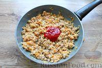 Фото приготовления рецепта: Макароны по-флотски, с мясным фаршем и сыром (в духовке) - шаг №8