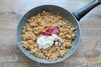 Фото приготовления рецепта: Макароны по-флотски, с мясным фаршем и сыром (в духовке) - шаг №9